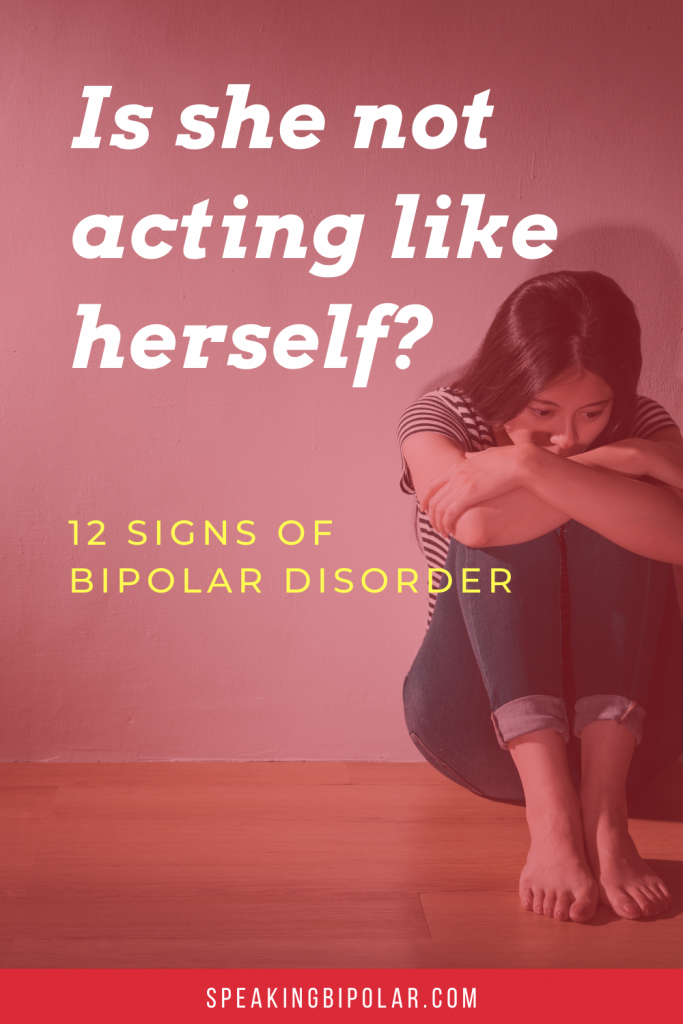 Have you noticed unusual behavior recently? Has there been rapid speech, irritability, or unpredictable behavior? It could be Bipolar Disorder. | #mentallillness #bipolarstrong #mentalhealthmatters #bipolar #bpd