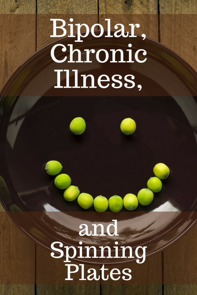 Living with bipolar disorder and chronic illness sometimes makes you feel like you are an unsuccessful plate spinner. Read a real life example. #bipolar #chronicillness #mentalillness