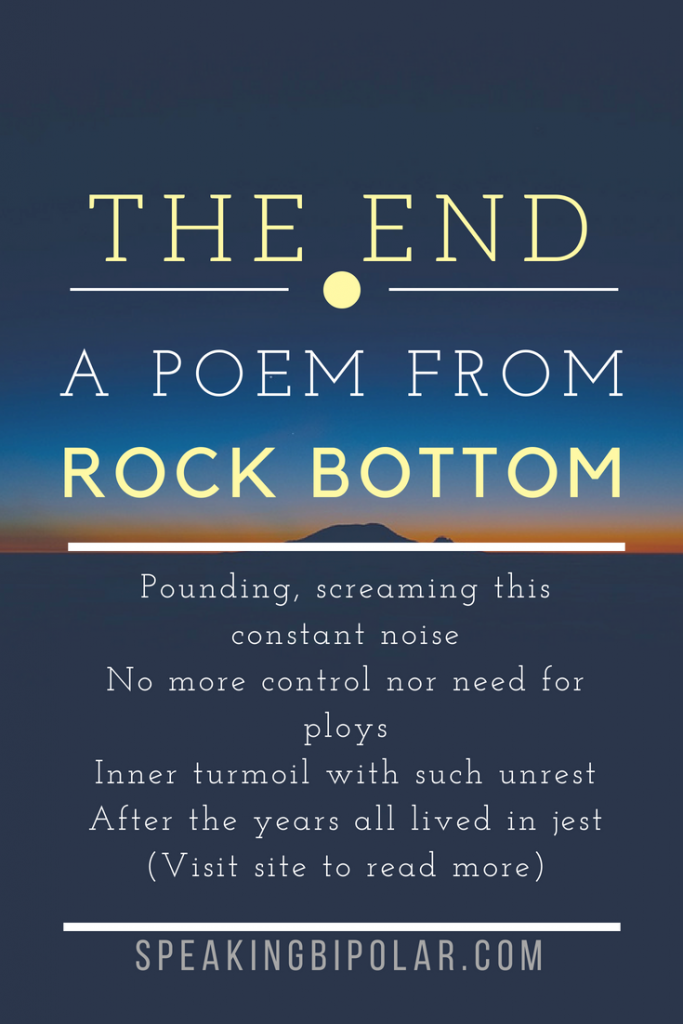 The End - a Poem about despair and reaching rock bottom. #poem #poetry #poet