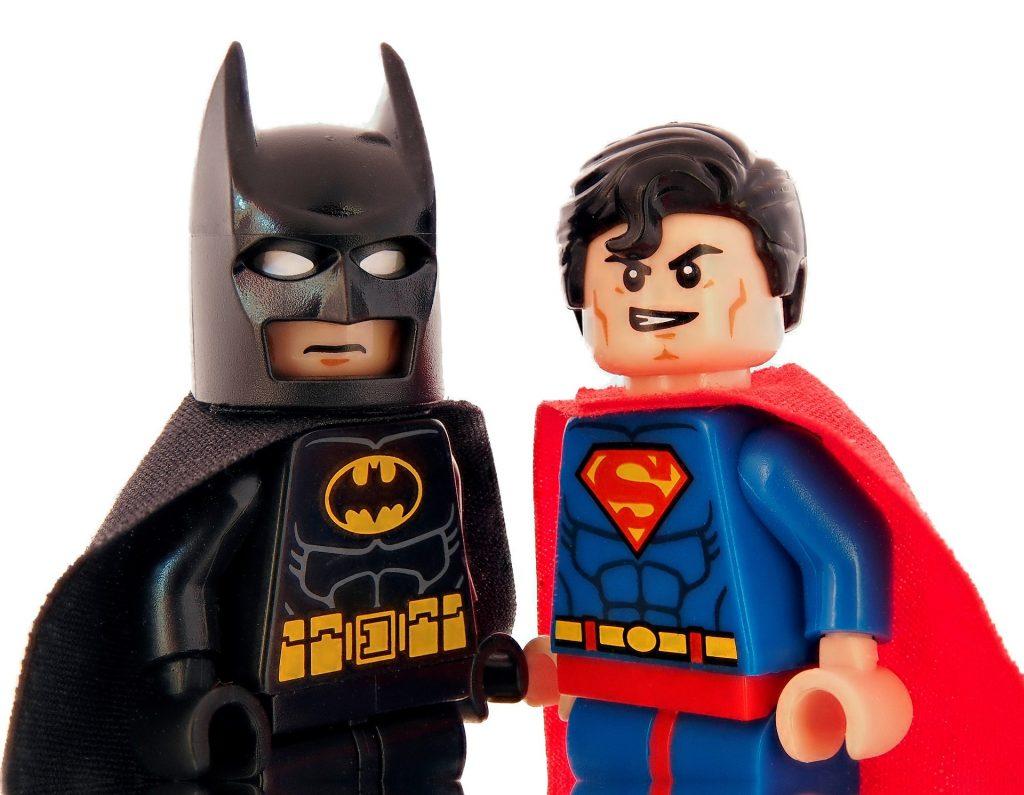 Lego Batman and Lego Superman
