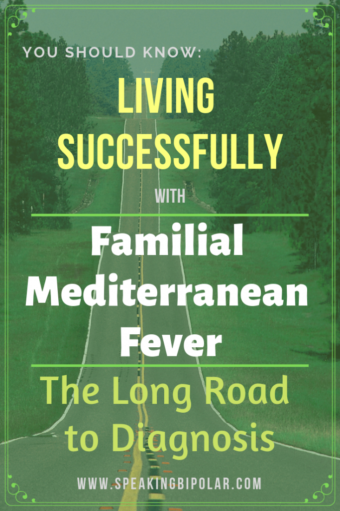 One of the most challenging things about Familial Mediterranean Fever is getting the right diagnose. This post shares one patient's long journey to the right diagnosis. | #FamilialMediterraneanFever #FMF #chronicillness #periodicfever