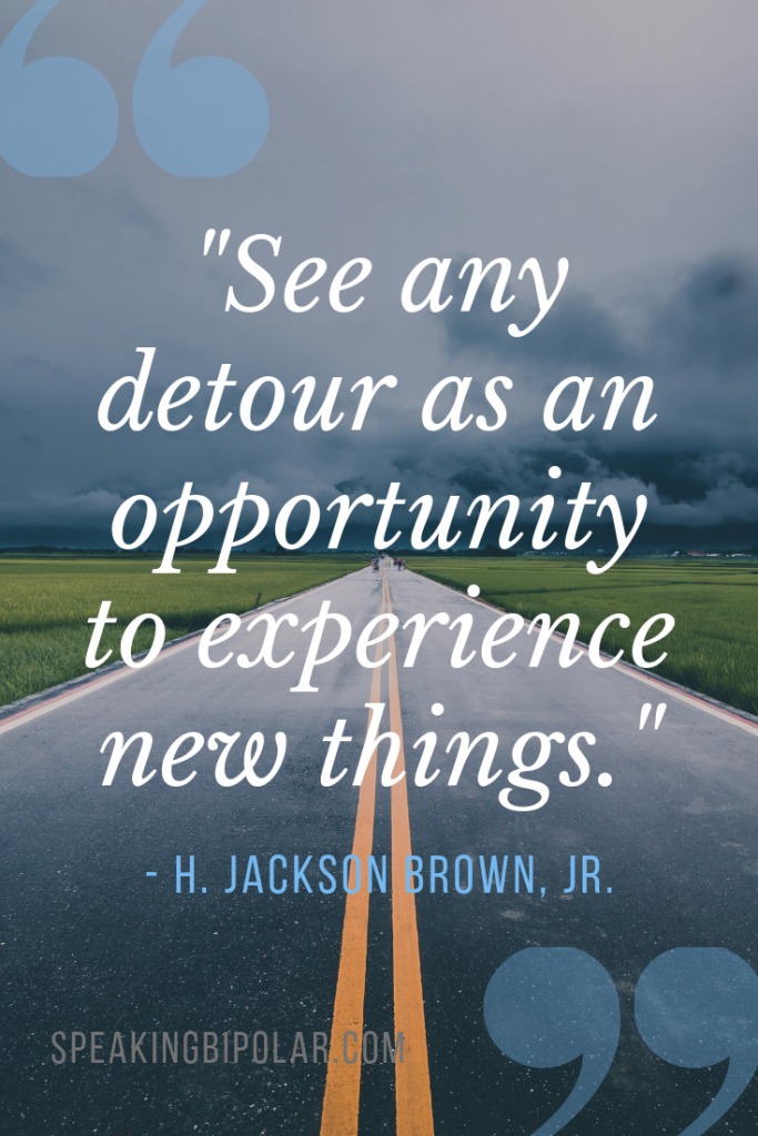 Have you ever taken a detour? Some are unavoidable, but they all can offer gifts and value. Read how to change the way you look at life's detours. | #MondayMotivation #Inspiration #LifeLessons