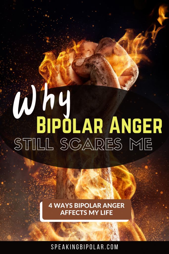 Fist on fire. - Coping with bipolar anger is one of the most challenging parts of having the disorder. This post examines why it still scares me and how I fight it. | #bipolar #bpd #anger #mentalillness #mentalillnessawareness #bipolarstrong