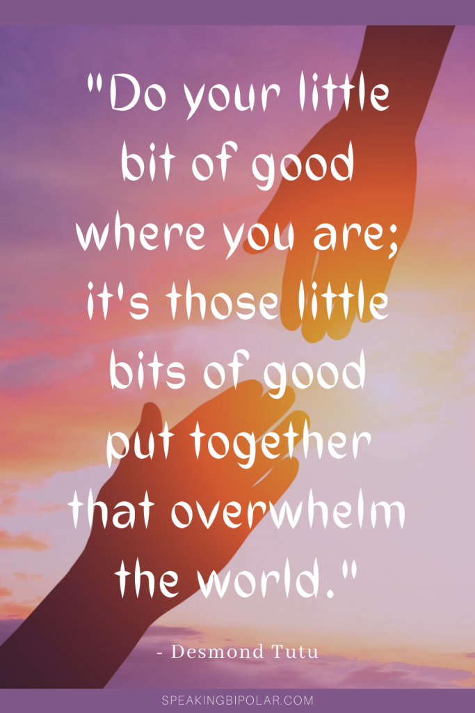 Hands reaching out for each other - When you have a chronic and mental illness, you can feel powerless to improve someone's day. This post examines how even the smallest acts matter and make the world a better place.