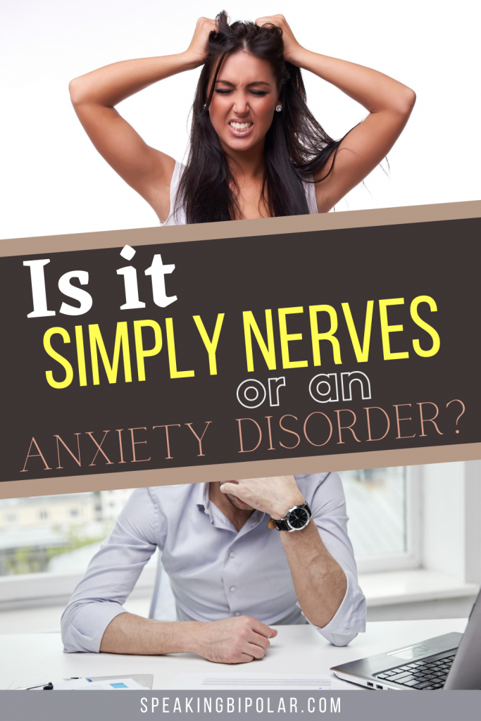 Is general nervousness the same as an anxiety disorder? Learn how they are different and how you can cope. Written by an author who understands anxiety disorders. | #anxiety #mentalillness #mentalillnessawareness