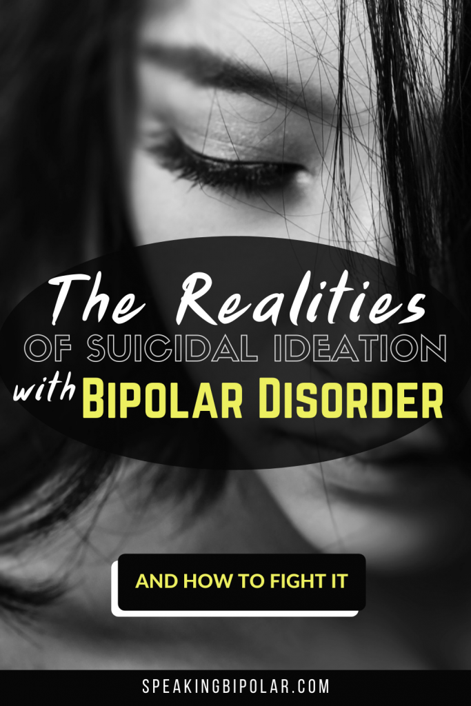 Sad woman looking down. - Coping with suicidal ideation with bipolar disorder is an intense struggle for many of us. This post looks at how it feels and how to fight it. | #bipolar #mentalillness #suicideprevention