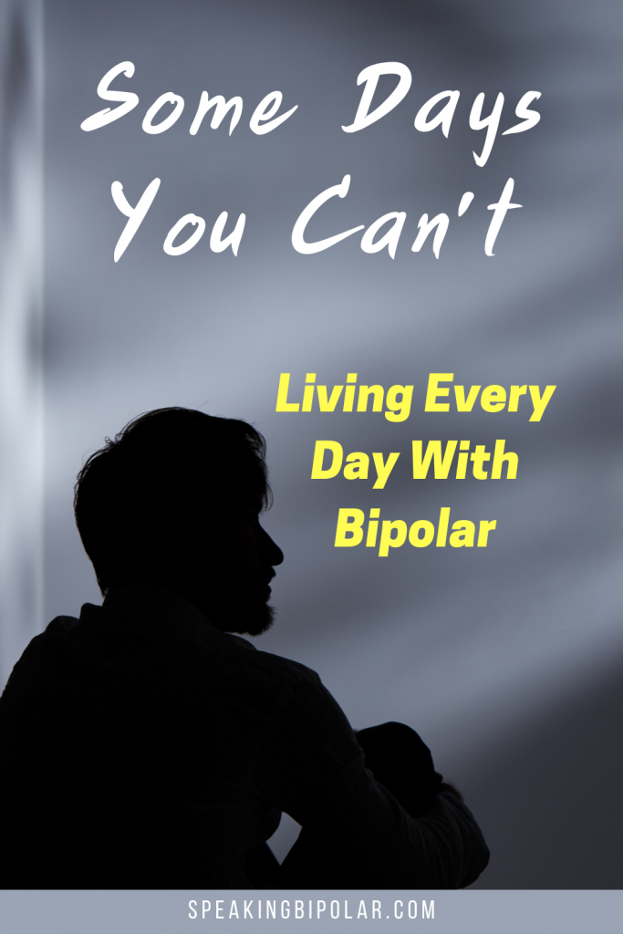 Man sitting in dark - Bipolar disorder causes many bad days. This post is written by someone with bipolar and shows what those days might look like and how to fight them. | #bipolarstrong #mentalillness #bipolar
